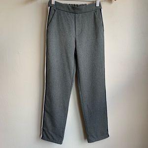 Zara gray slacks with vertical stripes NWOT